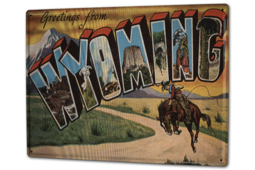 Blechschild XXL Welt Reise Wyoming