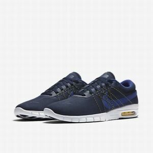 be1f1e08fc57 NEW Nike SB Eric Koston MAX Skate Shoes Obsidian Yellow 855678 451 ...