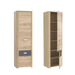schrank mit regalen yoop kleiderschrank jugendzimmer. Black Bedroom Furniture Sets. Home Design Ideas