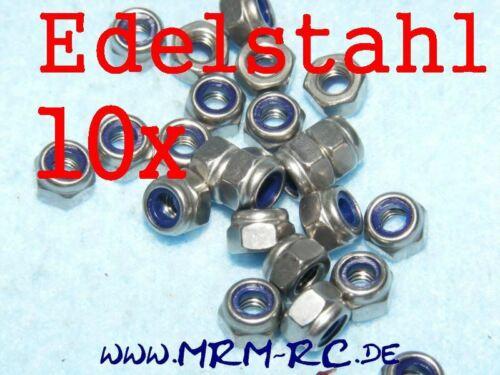 DIN 985 M4 A2 Edelstahl Mutter Sicherungsmutter 11923 6738//04 10er Pack 52016