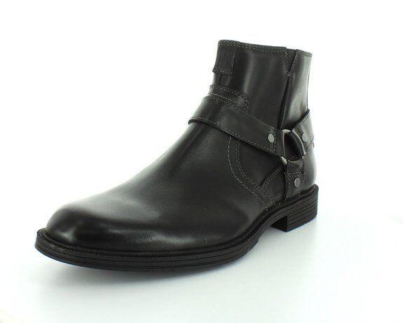 Florsheim Men's Mogul Harness Western Boots  Black Leather 13258-001