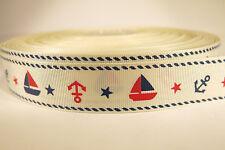 "5 yards of 1 inch ""Anchor"" grosgrain ribbon"