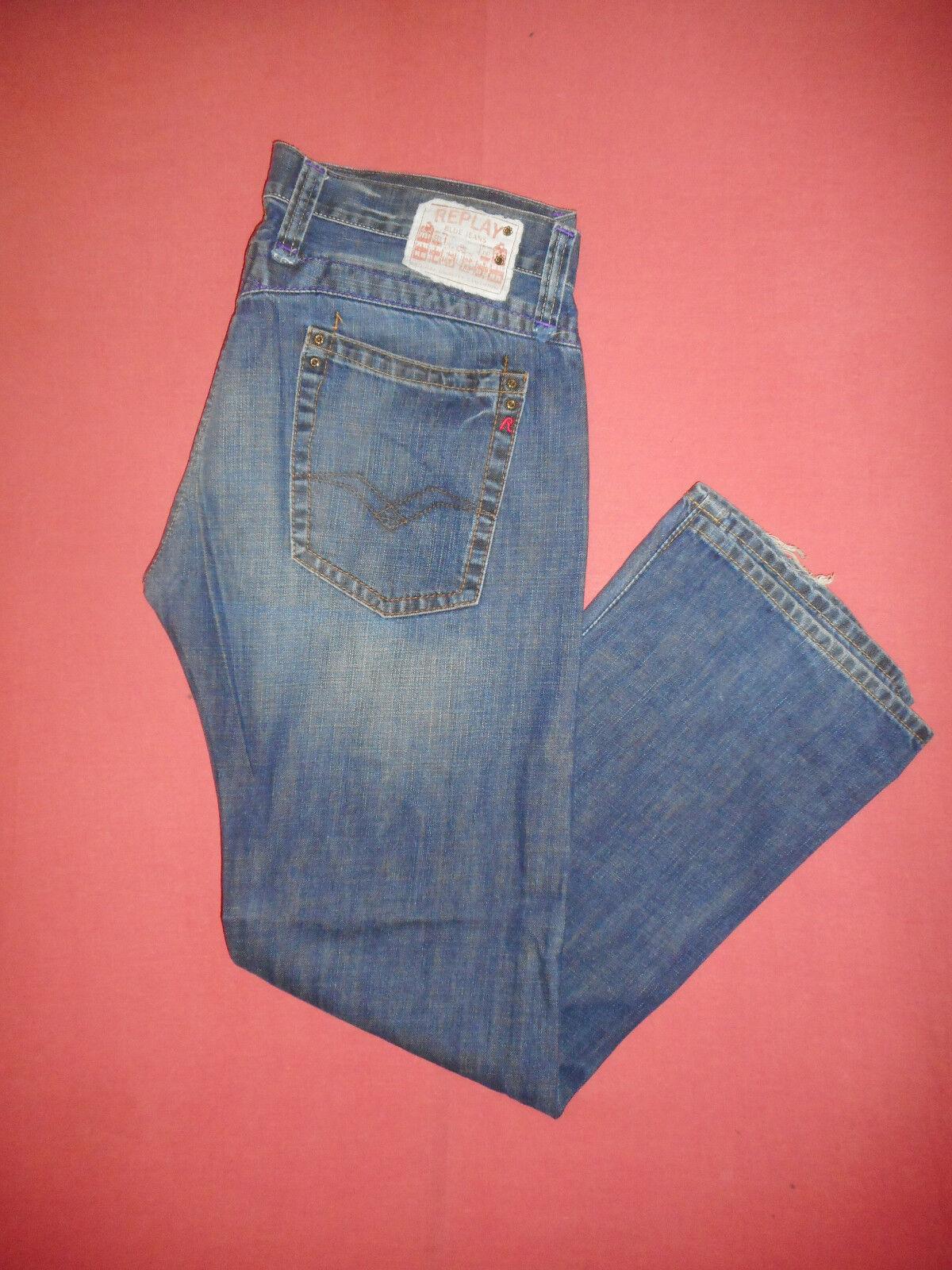 Replay MV 950A,034  Waist 36 Leg 33  Mens bluee Denim Jeans  B648