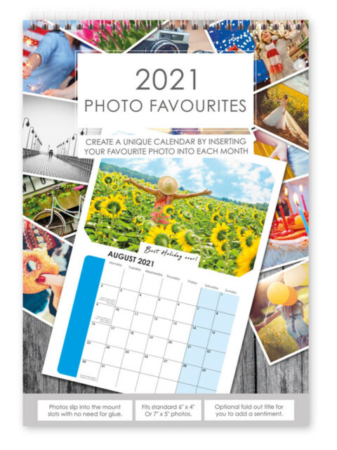 5 X Make Your Own Personalised A4 Photo Calendar 2021 Add ...