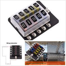 napa fb6310 fuse block glass tube 10 way ebay rh ebay com Car Fuse Box Bussmann Fuse Box