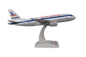 Avion-Airbus-A319-US-Airways-034-Piedmont-034-16-5cm-sur-socle-neuf-echelle-1-200