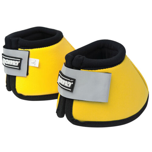 Yellow Roma Reflective No-turn Bell Unisex Horse Boot Over Reach Boots