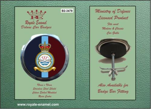 Royale Military Car Grill Badge /& Fittings RAF 617 SQUADRON COLOURS B2.3478