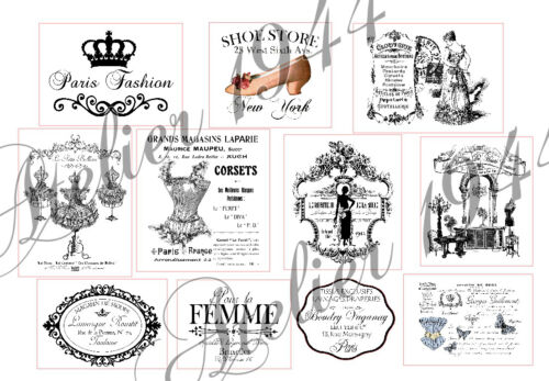 Pegatinas-muebles tatuaje-transparente-sticker-SHABBY Vintage-French-mode 1026