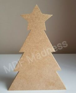 MDF-CRAFT-SHAPE-WOODEN-CHRISTMAS-TREE-WITH-STAR