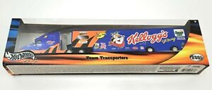 Hot-Wheels-NASCAR-Terry-Labonte-Kellogg-039-s-Team-Transport-Semi-Truck-VTG