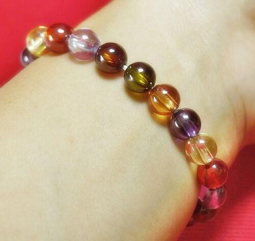 Bracelet Nok Phra Gow Lucky Gems Naga Eye Crystal Real Thai Amulet 1.4 cm #R47