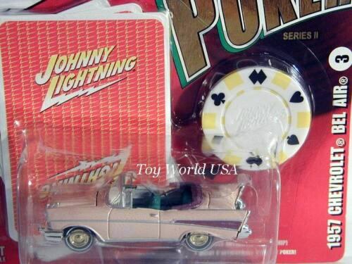 2006 Johnny Lightning POKER #03 1957 Chevrolet Bel Air Series II