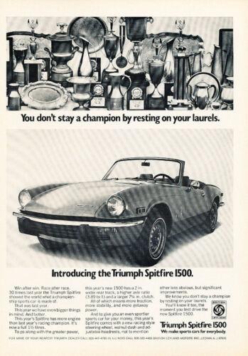 1973 Triumph Spitfire Classic Vintage Advertisement Ad