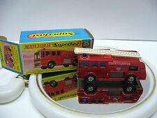 Matchbox  Superfast  MB 35 Merry Weather Fire Engine-rotmetal  - Made in England