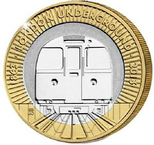 2013-2-LONDON-UNDERGROUND-TRAIN-150YRS-TWO-POUND-COIN-HUNT-25-32-BI-METAL-2-xx