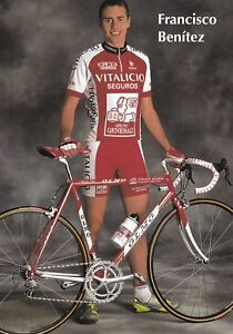 CYCLISME-carte-cycliste-FRANCISCO-BENITEZ-equipe-VITALICIO-Seguros
