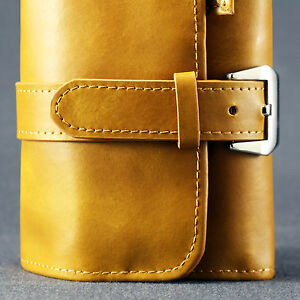 CLEARANCE-Premium-Plush-Leather-Watch-Strap-Roll-Travel-Case-Pouch-4-1-2-Slot