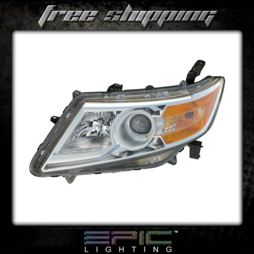 Fits 2011-13 Honda Odyssey Headlights Headlamps Left Driver Only