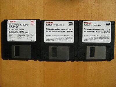Canon Bjc 240, Bjc 4200, Bjc 4550 Treiberdisketten Für Windows Starke Verpackung