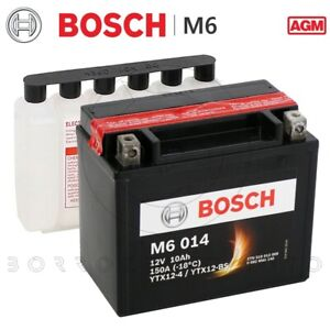 BATTERIA-BOSCH-M6-014-YTX12-BS-AGM-12V-10AH-150A-MOTO-SCOOTER-152x88x131-mm