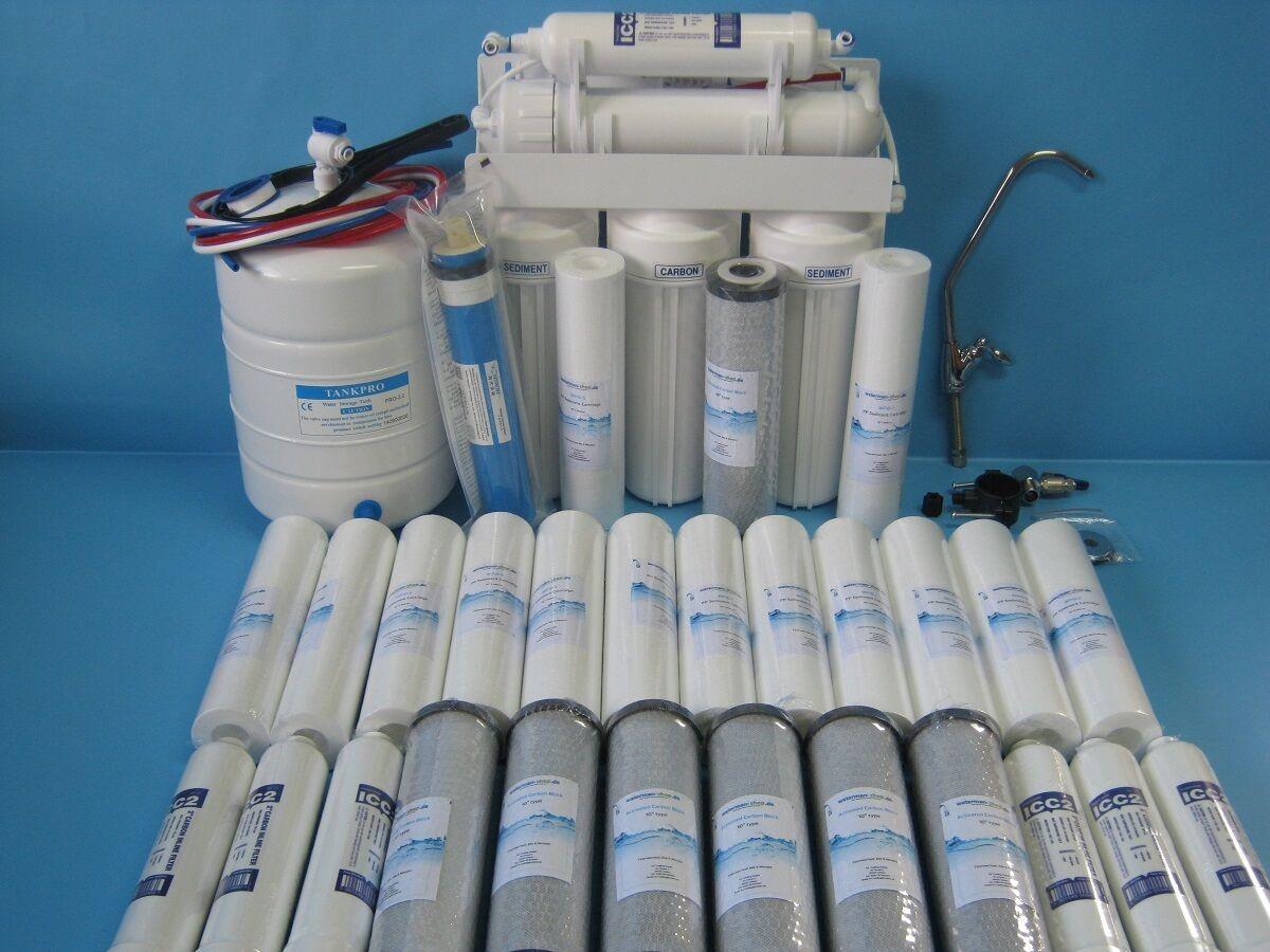 5 marches Osmose Inverse insTailletion Filtre à eau +3 ans filtres de rechange