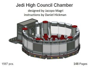 custom-Lego-Star-Wars-Jedi-High-Council-Chamber-INSTRUCTION-MANUAL-ONLY