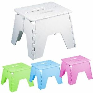 FOLDABLE-FOLDING-STURDY-STEP-STOOL-HOME-KITCHEN-GARAGE-CARRY-MULTI-PURPOSE-STOOL