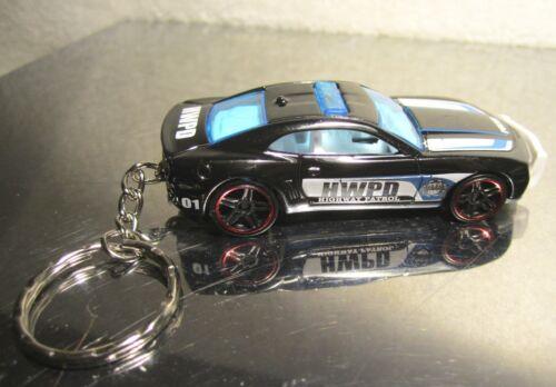 2016 Hot Wheels Chevy Camaro SS Police Trooper Cruiser Custom Key Chain Ring