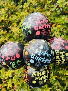 HAPPY-BIRTHDAY-PRINTED-BLACK-LATEX-BALLOONS-ADULTS-KIDS-HELIUM-DECORATION-Ballon
