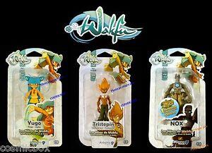 Lot WAKFU de 3 figurines articulees YUGO TRISTEPIN NOX DOFUS HW Ankama NEUVES