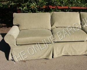 Image Is Loading Pottery Barn Pb Basic Sofa Sectional Slipcover Left