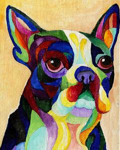 Boston-Terrier-8X10-DOG-Print-from-Artist-Sherry-Shipley