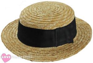 DELUXE-STRAW-BOATER-HAT-1920-039-S-ROWING-BOAT-BARBER-SHOP-FANCY-DRESS-COSTUME