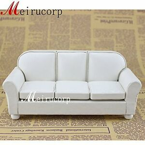 Details About Dolls Furniture Fine 1 12 Scale Miniature Well Made White Living Room Sofa