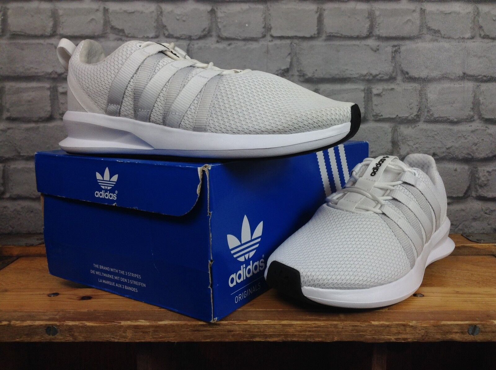 ADIDAS5.5 EU 38 2/3  blanc  LOOP RACER TRAINERS GIRLS LADIES