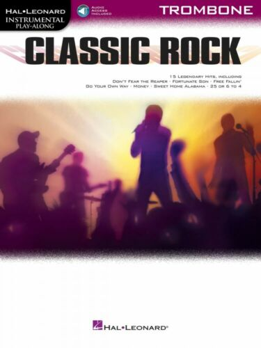 Classic Rock Instrumental Play-Along for Trombone Book and Audio NEW 000294362