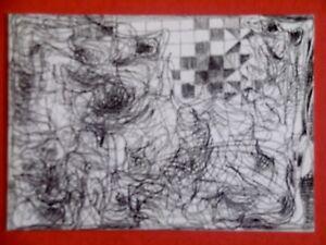 CORDESSE-Louis-carton-invitation-Gal-Clivages-1992-PEINTURES-Marseille-Pignon