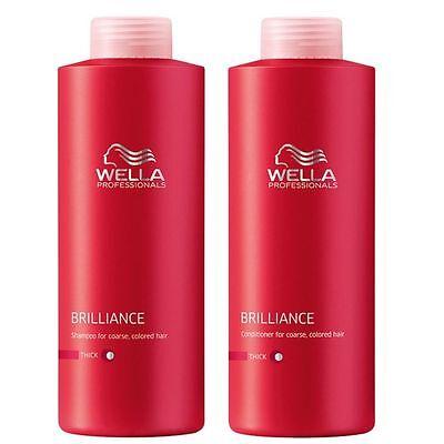 Wella Professional BrillianceShampoo & Conditioner Thick/Coarse1000ml plus pumps