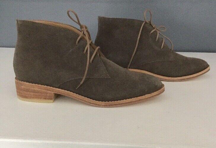 NEW  308 Anthropologie Huma Weiß Weiß Weiß Manuela Lace Up Stiefel Größe 36 Chukka Stiefelie 1708dd