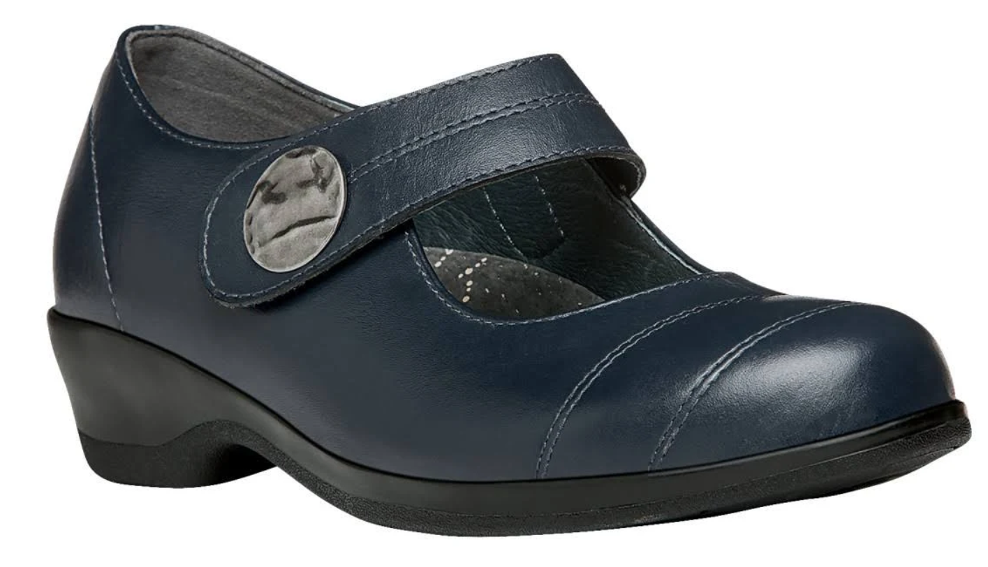 Propet Antonia Taille 9.5 US 2 A (N) AA étroit EU 40.5 femmes Mary Jane chaussures bleu Marine