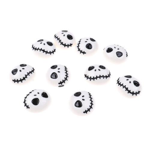 10pcs Halloween Skeleton Flat Back Resin Cabochon Diy Phone Deco EmbellishmentHD