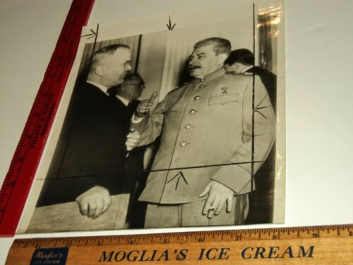 Rare Historical Original VTG Communist Russia Soviet Union Joseph Stalin Photo