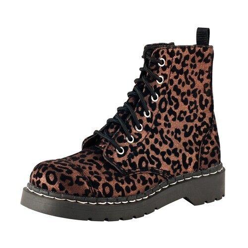 T.U.K. Zapatos Zapatos Zapatos Marrón rebaño Leopardo 7 Ojo anárquico botas Tallas US 9 f4338e