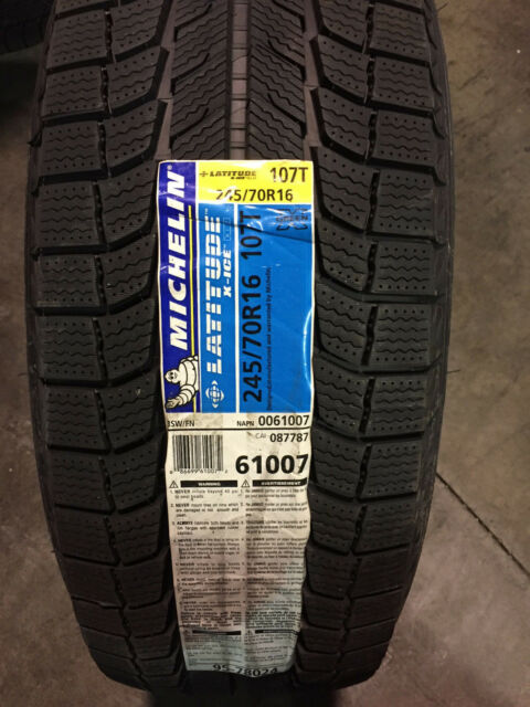 4 michelin latitude x ice xi2 245 70r16 107t winter tires ebay. Black Bedroom Furniture Sets. Home Design Ideas