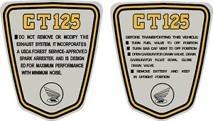 Details about Honda CT70 K3 1974, Custom 125 Side Badges, Graphics,  Stickers