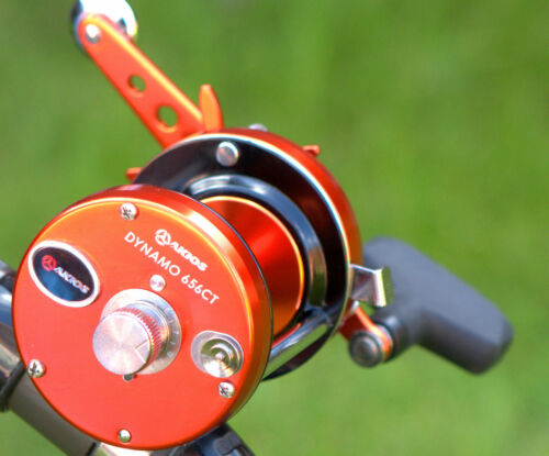 New Akios Dynamo 656 CT Orange Color Baitcasting Fishing Reel