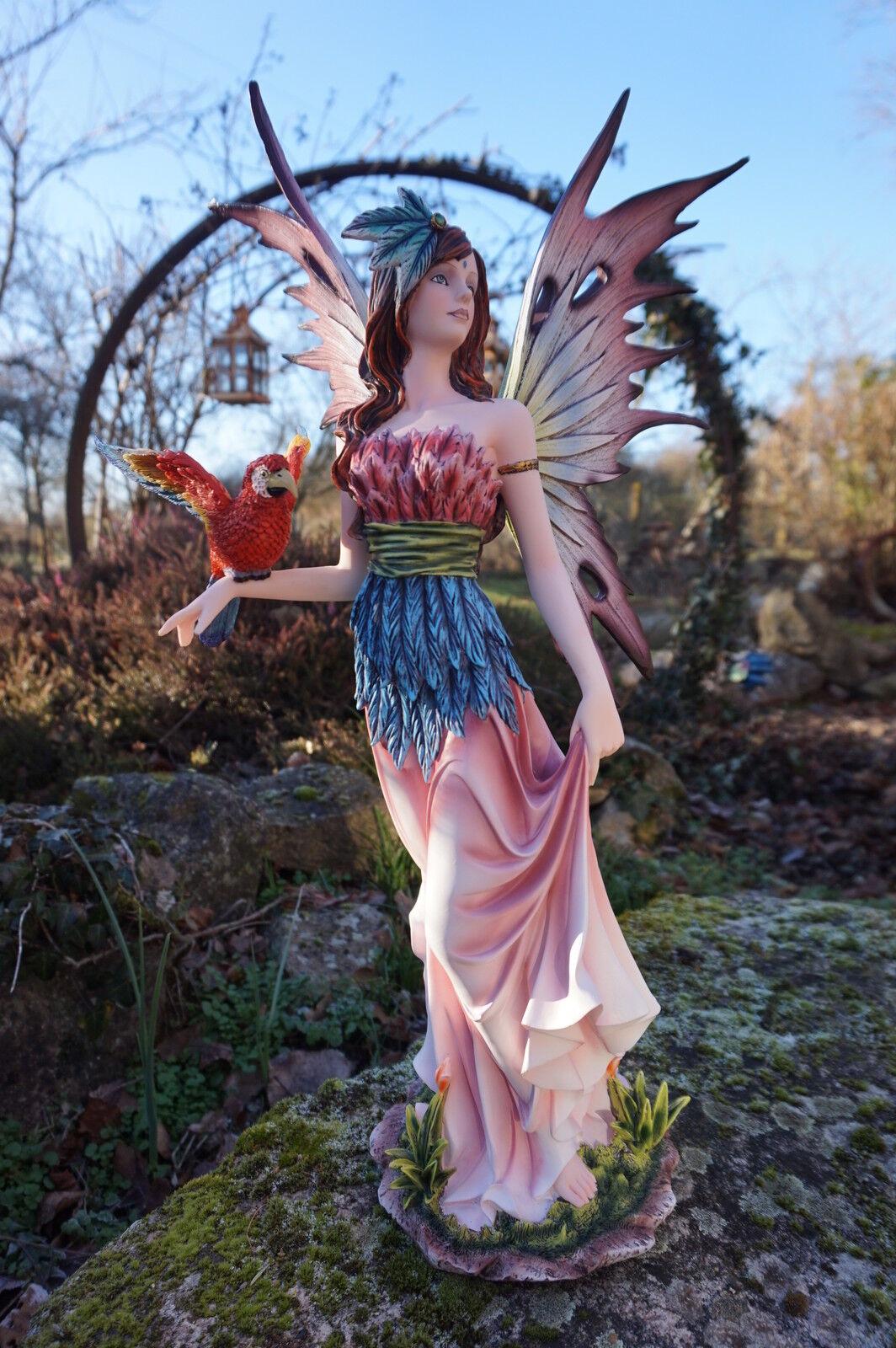 15507  GReE   FIGURINE  STATUETTE FEE + PERROQUET  54 CM HEROIC  fantasycc  negozio di sconto