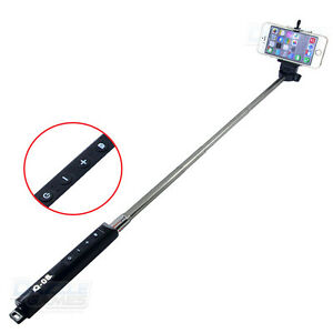 bluetooth extendable handheld selfie stick monopod with zoom for samsung iphone ebay. Black Bedroom Furniture Sets. Home Design Ideas