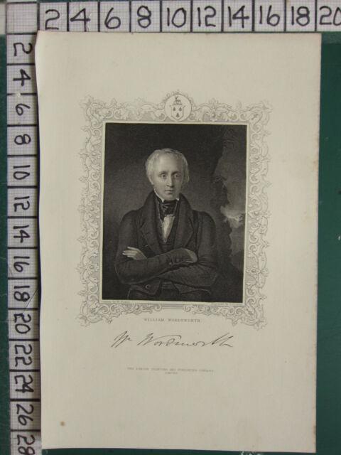 C1830 Imprimé ~ William Wordsworth
